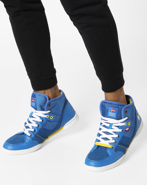 Ankle-Length Panelled Shoes By Lee Cooper ( Blue )