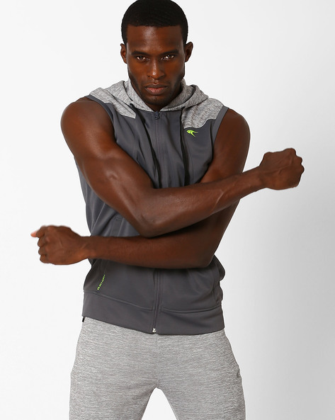 Hooded Regular Fit Jacket With Quick Dry By PERFORMAX ( Charcoal )