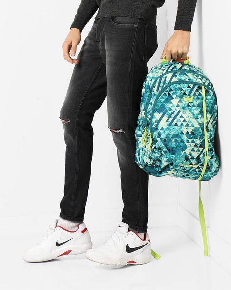 Geometric Print Backpack By Wildcraft ( Green )