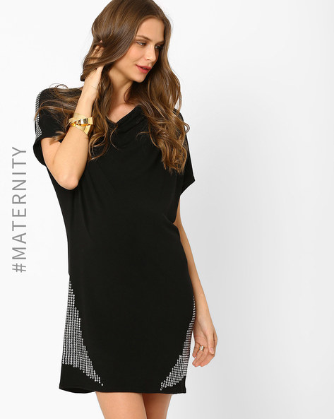Embellished Maternity Top By AJIO ( Black )