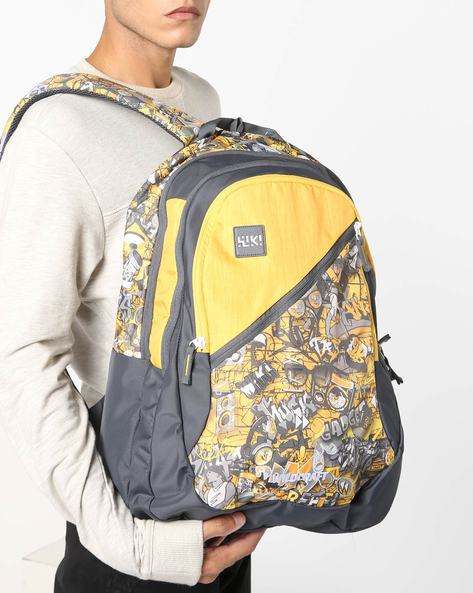 Graphic Print Backpack By Wildcraft ( Yellow )