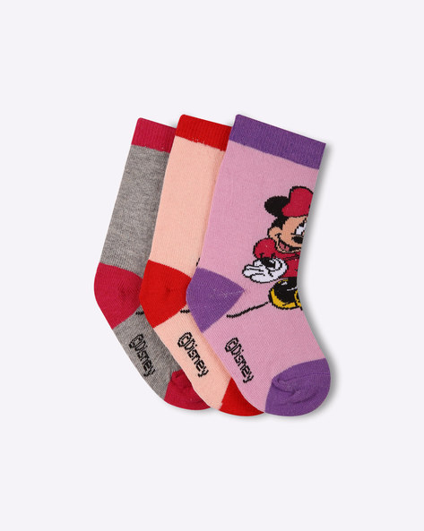 Pack Of 3 Minnie Mouse Print Socks By Walt Disney ( Multi )