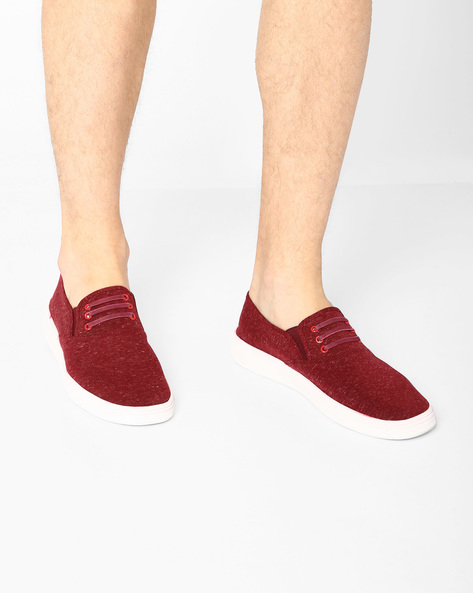 Slip-On Sneakers With Elasticated Gussets By Nuboy ( Maroon )