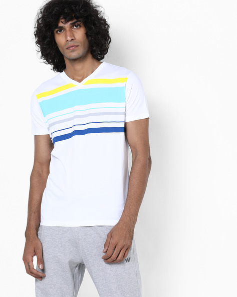 Slim Fit Colourblock T-shirt By Pepe Jeans ( White )