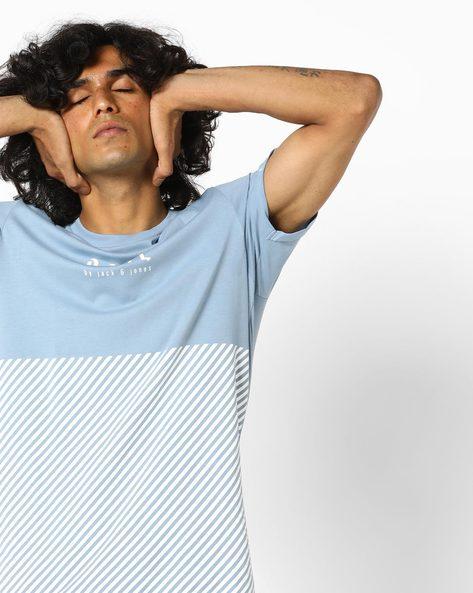 Slim Fit Crew-Neck T-shirt By Jack & Jones ( Blue )
