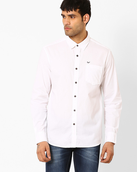 Regular Fit Cotton Shirt By FLYING MACHINE ( Assorted )