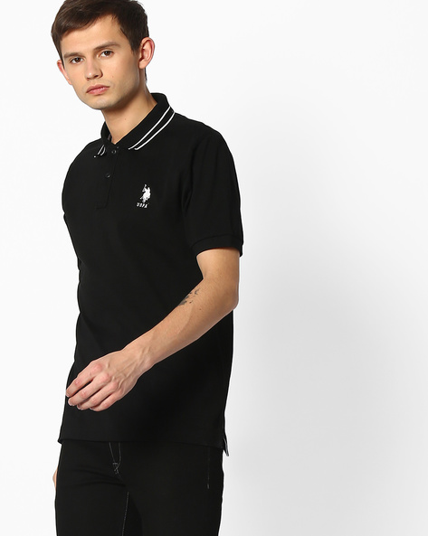 Polo T-shirt With Embroidered Branding By U.S. Polo Assn. ( Assorted ) - 440760119004