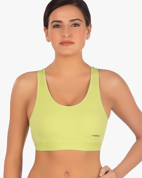 Knitted Racerback Sports Bra By TRIUMPH ( Green )