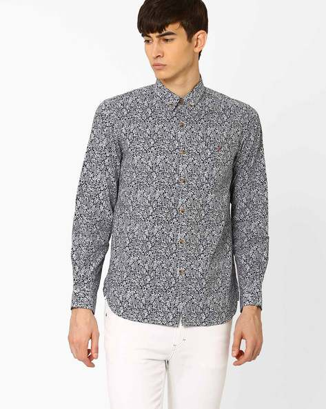 Kell Sport Slim Fit Shirt By Wills Lifestyle ( Blue )