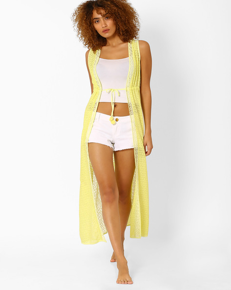 Lace Maxi Cover-Up By PrettySecrets ( Yellow )