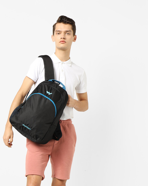 Colourblock Laptop Backpack By Wildcraft ( Black )