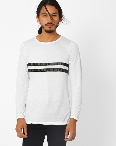 Round Neck Cotton T-shirt By MR.BUTTON ( White )