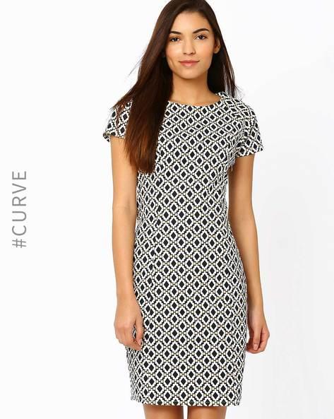 Printed Tailored Dress By AJIO ( Black )