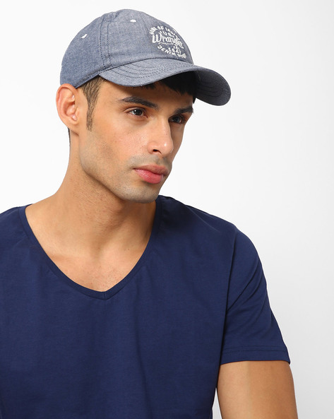 Cap With Embroidered Branding By WRANGLER ( Blue )