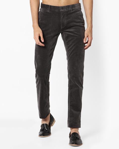Courdroy Slim Fit Chinos By VIMAL APPARELS ( Grey )