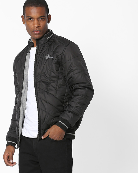 Reversible Quilted Jacket By Fort Collins ( Black )