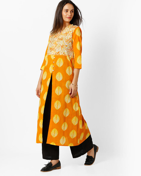 Printed Open-Front Kurta By BE INDI ( Assorted ) - 440724557003
