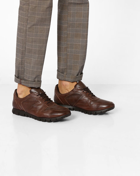 Panelled Lace-Up Shoes By Knotty Derby ( Brown )