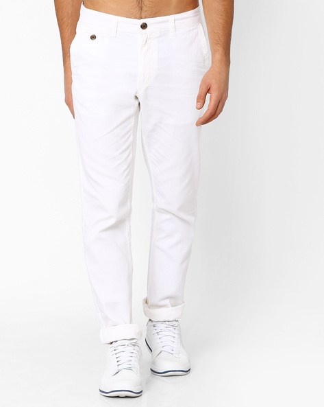 Mid-Rise Tapered Trousers By NETPLAY ( Offwhite )