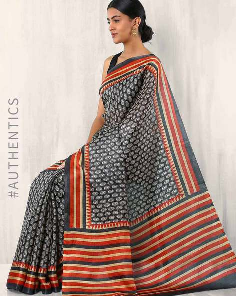 Art Silk Printed Buta Saree By Rudrakaashe-MSU ( Multi )