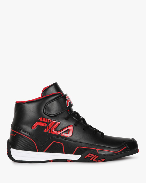 Torque High-Top Sneakers With Velcro Strap By FILA ( Black )