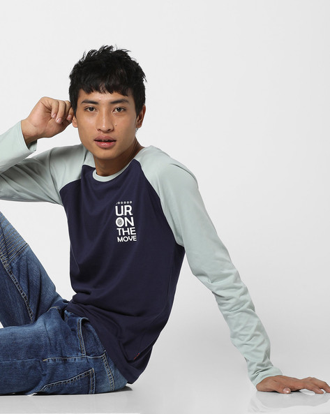 Crew-Neck T-shirt With Raglan Sleeves By Lee ( Navyblue )
