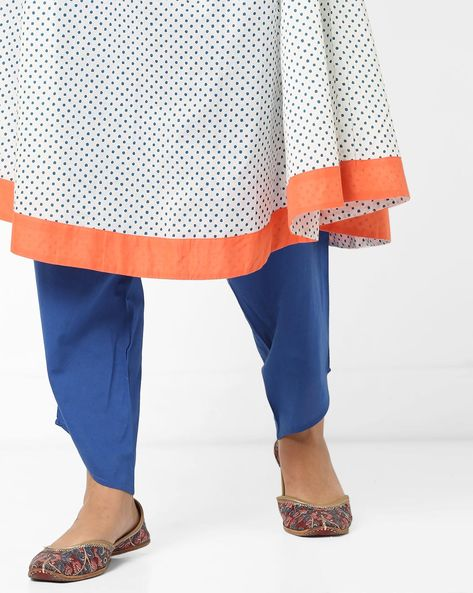 Mid-Rise Dhoti Pants By AJIO ( Blue )