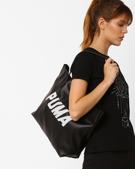 Tote Bag With Printed Back By Puma ( Black )