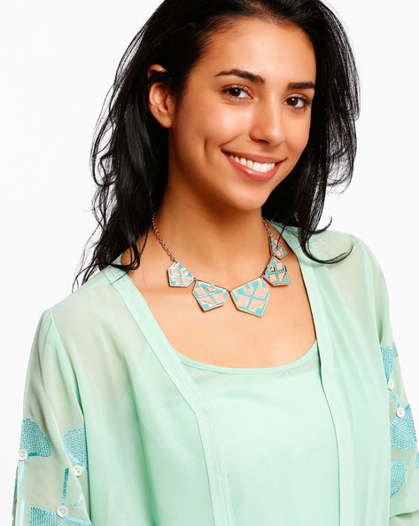 Necklace With Enamel Finish By AJIO ( Multi )