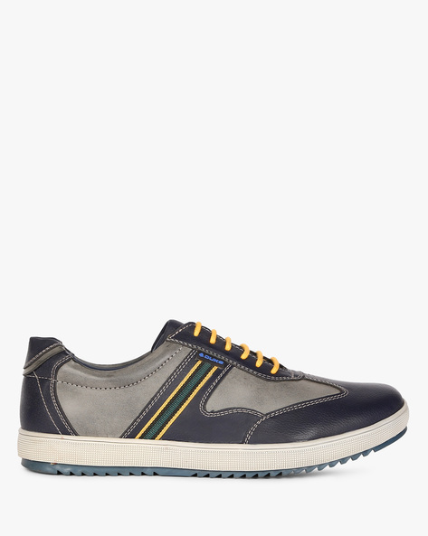 Panelled Lace-Up Casual Shoes By DUKE ( Navy )