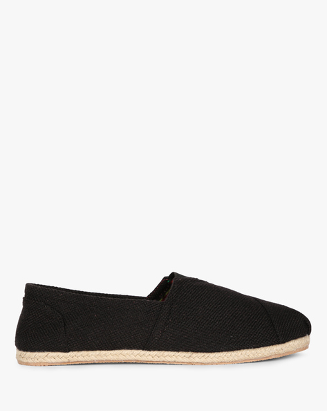 Casual Espadrilles With Weave By AJIO ( Black )