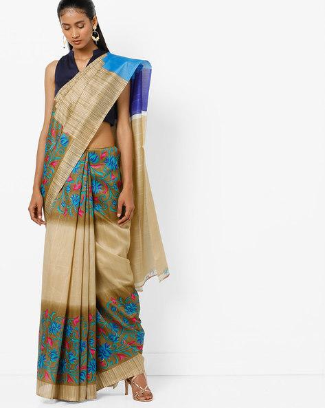 Bhagalpuri Silk Printed Saree By Florence ( Multi )