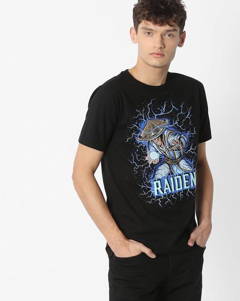 Superhero Print Cotton T-shirt By The Souled Store ( Black )