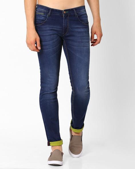 Lucifer Slim Fit Jeans By SIN ( Indigo ) - 460027293002