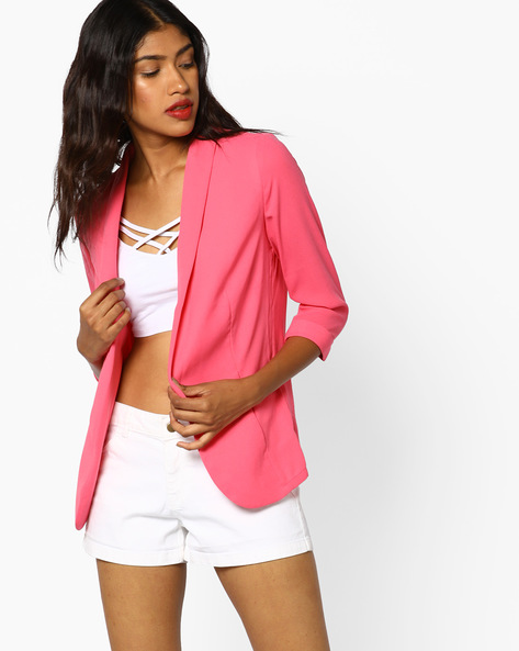 Jacket With Shawl Lapel By BOSSINI ( Pink )