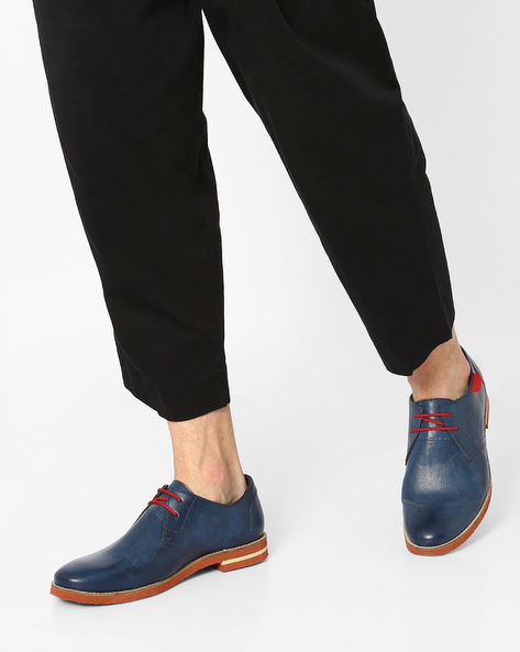 Casual Shoes With Lace-Ups By AJIO ( Navy )