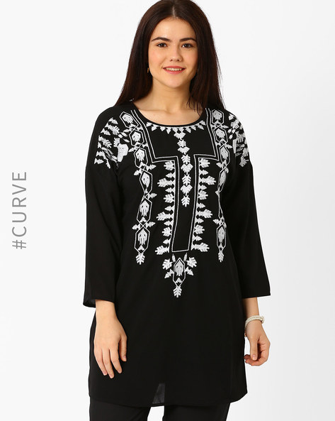 Embroidered Tunic By Oxolloxo ( Black )