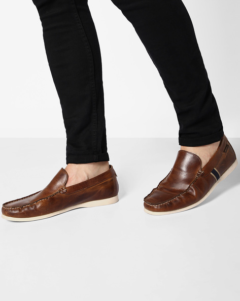 Genuine Leather Casual Shoes By RED TAPE ( Tan )