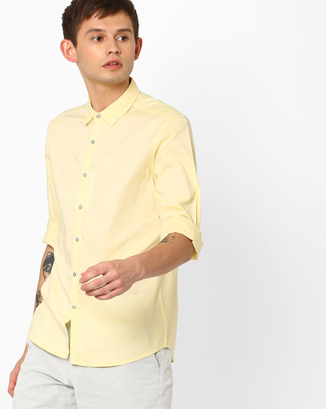 Classic Slim Fit Shirt By Lee ( Cream )