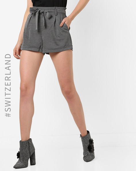 Mid-Rise Shorts With Upturned Hems By TALLY WEiJL ( Grey )
