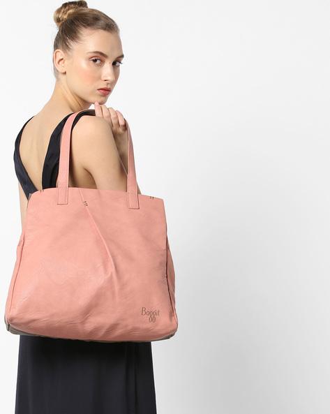 Colourblock Tote Bag By BAGGIT ( Rose )