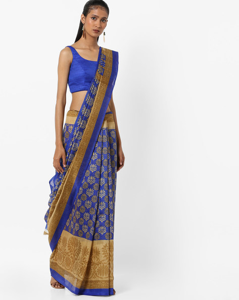 Bhagalpuri Art Silk Saree By Florence ( Blue )