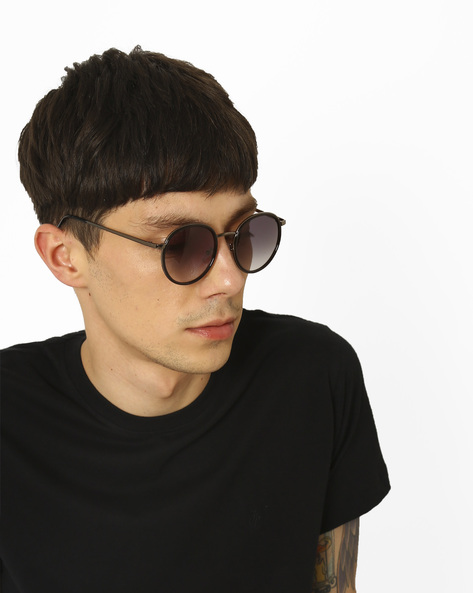 Full-Rim Round Sunglasses By MTV ( Grey )