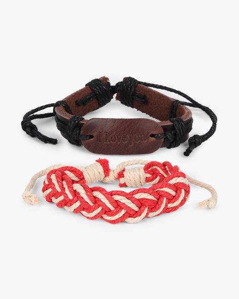 Set Of 2 Bracelets By ALPHA MAN ( Red )