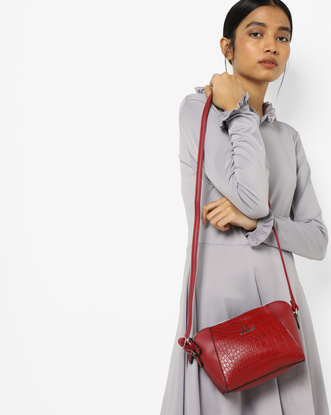 Luba Textured Sling Bag By Lavie ( Red )