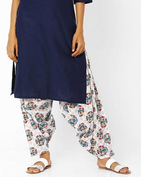 Printed Patiala Pants By AURELIA ( Blue )