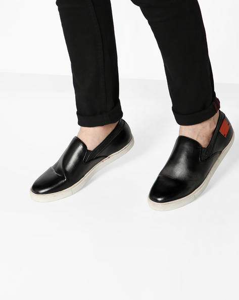 Slip-Ons With Elasticated Gussets By ALBERTO TORRESI ( Black )