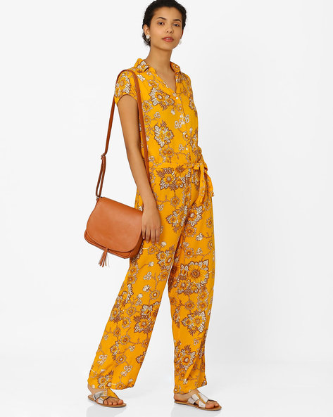 Floral Print Jumpsuit By Biba ( Yellow )