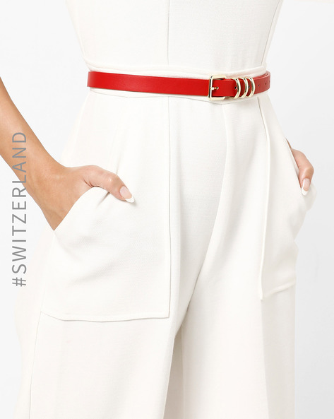 Skinny Belt With Buckle Closure By TALLY WEiJL ( Red )