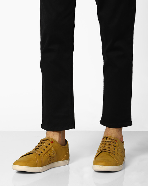 Lace-Up Shoes With Perforations By BCK By Buckaroo ( Tan )